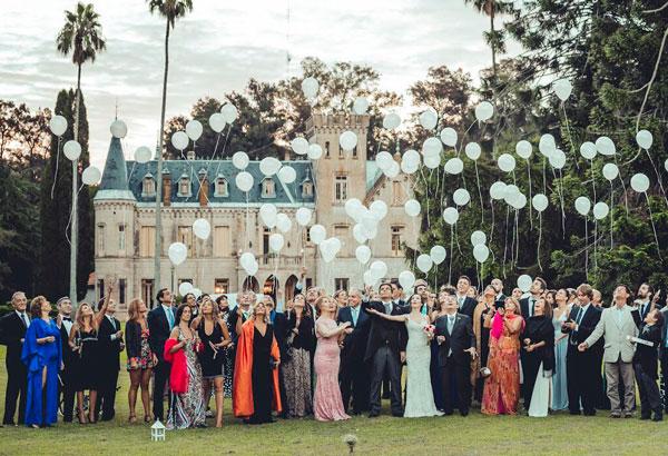 Casamiento frente al Castillo